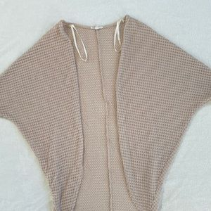 Crocheted Batwing Sweater Top